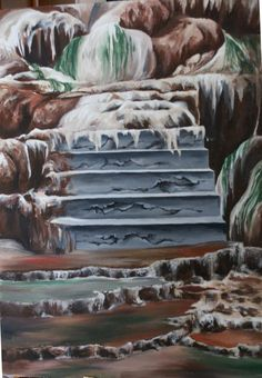 slide, acrylic painting from www. Nature Paintings, Art, Art Background, Paintings Of Nature, Kunst, Performing Arts, Nature Drawing, Art Education Resources, Artworks