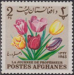 Sello: Tulips (Afganistán) (Teacher's Day) Mi:AF 859A,Sn:AF 671,Yt:AF 746U