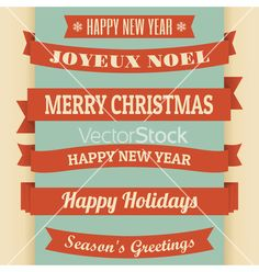 Vintage christmas banners vector by dolcevita on VectorStock®