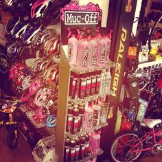 Instagram effect our bike shop MUCOFF stand
