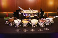 "The previous pinner said, ""Gourmet Mashed Potato Bar. Catering by Fresh Ideas.""Reminds us of our Mash-tini bar! Dress up your comfort food! Gourmet Popcorn, Popcorn Bar, Burger Bar, Gourmet Burger, Wedding Buffet Food, Party Food Buffet, Bar Catering, Wedding Catering, Catering Ideas"