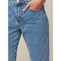 Miss Selfridge PETITE MOM Hotfix Jeans (€33) ❤ liked on Polyvore featuring jeans, blue, petite, blue jeans, petite jeans, petite blue jeans, miss selfridge and miss selfridge jeans