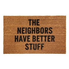 Look what I found at UncommonGoods: Better Stuff Doormat for $50.00