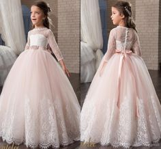 Long Sleeves Lace Arabic 2017 Flower Girl Dresses Ball Gown Child Dresses Beautiful Flower Girl Wedding Dresses F063 Wedding Girls Dresses Flower Girls Dresses Flower Girl Dress Online with 80.0/Piece on Weddingmall's Store | DHgate.com
