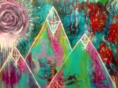 May 2014 Bloom True Ecourse with Flora Bowley. Inspired by a trip to Mt. Shasta. Artist Jamie Raley.