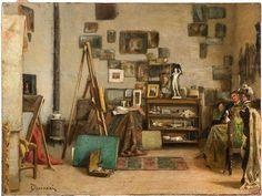 Odoardo Borrani Visita allo studio, 1885-1890