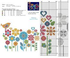 Floral cruzar puntada Patrón ✽ ✽ DETALLES DEL MODELO patrón PDF Stitches: 98 X 73 Fabric: Aida 14, Any fabric you like Floss: DMC (6 colors) Size: 17,78 x 13,24 cm / 7.14 x 5.21 inch (14 count) Este patrón es en PDF formato JPEG y consiste en una foto de ejemplo, una lista de la