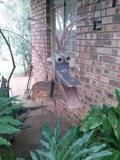 Bird from scrap metal