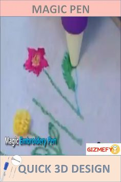 Is Embroidery Your Passion or you are trying to learn, then this is must for you. Use just like pen to create 3D designs, Tool must for you or gift for friend or loved one.