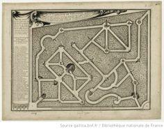 Le labyrinte de Versailles est le second Bosquet a gauche en descendant dans le Jardin. {…} Ce Bosquet est de l'invention de Mr le Nautre.