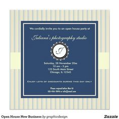 Sold. #OpenHouse New #Business #Invitation available in different designs. Check more at www.zazzle.com/celebrationideas