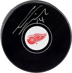 Gustav Nyquist Detroit Red Wings Autographed Hockey Puck  Fanatics Authentic Certified  Autographed NHL Pucks -- Be sure to check out this awesome product.