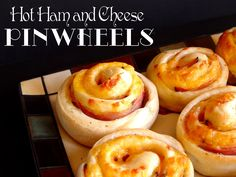 #Appetizer - Hot Ham and Cheese Pinwheels from jamiecooksitup.com