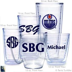 Edmonton Oilers Personalized Tervis Tumblers