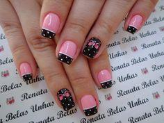 Flower Nail Designs, Pink Nail Designs, Glitter Gel Nails, Pink Nails, Painted Toe Nails, Hollywood Nails, Glamour Nails, Nail Tattoo, Cat Nails