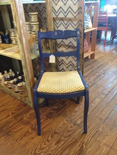 Rose back chair done in American Paint Company Shining Seas.