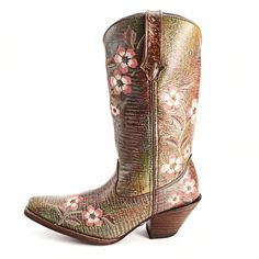 Durango Jungle Lizard Print Cowgirl Boots