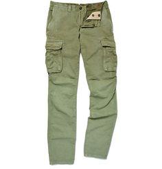 SlowearIncotex Cotton and Linen-Blend Slim Cargo Trousers