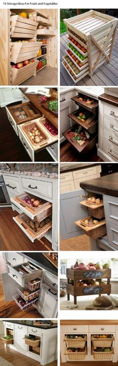 10 Storage Ideas For Fruits and Vegetables