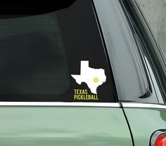 Looking for a great pickleball gift for a pickleball player? Or want a fabulous decal for your own car? This fun Texas Pickleball decal is perfect! Show your State some pickleball love!! This fun 2 color decal can be applied to your car window, car bumper, laptop, iPad, cooler or any smooth surface you choose. All our decals are custom designed and made by hand in the USA by us....2 fanatic pickleball girls and are only available from Pickleball Xtra. ** The listing is for 1 awesome decal…