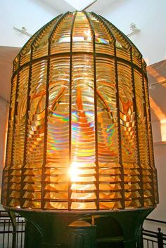 Destruction Island Lighthouse Lens, First order Fresnel Lens, Westport Maritime Museum, Grays Harbor, Westport WA, 052408West65V-7684