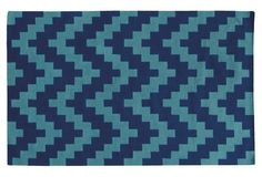 Matrix Rug, Blue/Blu