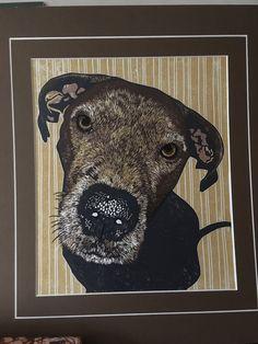 Alfie2 Linocut Prints, Moose Art, Animals, Animaux, Animal, Animales, Animais