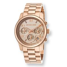Meeting elegance with class, this Michael Kors Runway bracelet watch is fashion at its finest