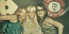 Aaliyah, Left Eye, and Lil Kim at the club in 1998