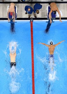 Michael Phelps of the United States competes in the Men's 4 x 100m Medley Relay…