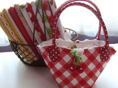 Sew Cherry Snippet Bag
