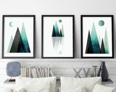 Set of 3 Prints Blush Art Set Scandinavian by UrbanEpiphanyPrints