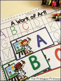 Find the letter and trace it! Great for matching colors and alphabet practice.