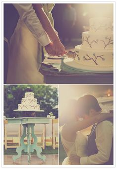 This is the cutest queer wedding. I love that cake, and how they're cutting it, and the feel of this, and everything is adorable and sweet and good.