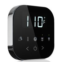 """Mr. Steam brings wireless technology to the bathroom: """"The new AirTempo Control™ offers users exceptional functionality and the convenience of a remote control, while also providing substantial time- and labor-savings to installers. The steam shower industry's first wireless control for the home, users can decide upon the optimal placement of the control over time, since there are no wires, tile, granite or marble cuts, or the need to route cables."""" #Bathdesign #Technology #Wireless…"""