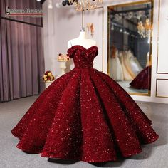Tradesy burgandy sequins fabric modern wedding dress size 10 m ball gown plus size prom dress vintage princess moonlight Big Prom Dresses, Pretty Quinceanera Dresses, Quince Dresses, Pretty Dresses, Beautiful Dresses, Princess Prom Dresses, Quinceanera Party, Amazing Dresses, Pageant Dresses