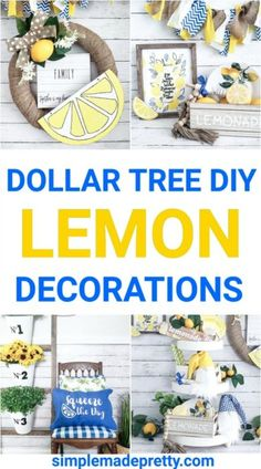 Dollar Tree Lemon Decor DIY Dollar Tree Lemon Plates, Dollar Tree Lemon, fake lemons Dollar Tree, Do Dollar Tree Decor, Dollar Tree Crafts, Dollar Tree Store, Dollar Stores, Dollar Dollar, Lemon Kitchen Decor, Diy Kitchen Decor, Diy Home Decor, Kitchen Ideas