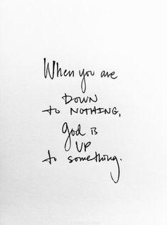 God is upto something