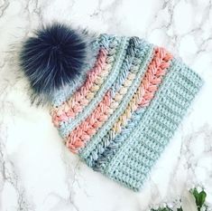 Your place to buy and sell all things handmade Crochet Beanie Hat, Crocheted Hats, Crochet Yarn, Crochet Hat For Women, Crochet Woman, Crochet Ideas, Crochet Patterns, Coat Of Many Colors, Rainbow Crochet
