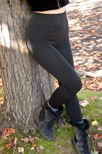 Thermal Fleece Leggings - Super thick and ultra cozy furry-fleece lined tights, with a comfy-wide waistband and cuff, so you're perfectly snuggled! Great under skirts or pants for adding that extra layer of warmth.