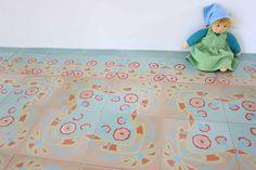 »Zementbodenfliese floraler Jugendstil« von Replicata - 20 x 20 x 1 - Replikate