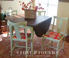 Drop-Leaf table & chair makeover