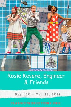 STEAM show based on Rosie Revere, Engineer, the NYT bestseller by Andrea Beaty and illustrated by David Roberts. Disney Vacations, Disney Trips, Emma Watson Quotes, Grumpy Cat Quotes, Nyt Bestseller, Disney Travel Agents, Pete The Cats, Youth Group Games, Magic School Bus