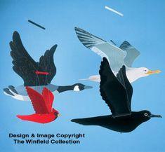 Wild Bird Wind Mobiles Pattern #2