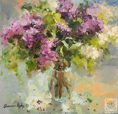 Painting «Bouquet of lilacs Abstract Flowers, Watercolor Flowers, Watercolor Paintings, Lilac Painting, Garden Painting, Still Life Art, Russian Art, Botanical Art, Painting Inspiration
