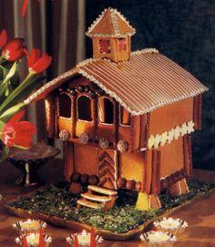 dom: Piernikowe chatki-jak zrobić How to make gingerbread house How To Make Gingerbread, Gingerbread Village, Gingerbread Cookies, Cookie House, House Cake, After Christmas, Christmas Home, Building Cake, Putz Houses