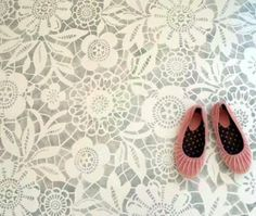 Lace Painting the Floor -- Do You Dare? | The Stir