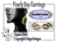 Pearly+Bay+Earrings+Tila+Beading+Pattern+Tutorial+by+DebgerDesigns,+$6.50