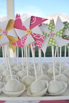 Pinwheel Party cake pops
