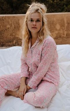 Pyjama ,set ,lounge wear made with hand block print cotton